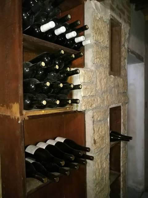 Stored wine at the winery